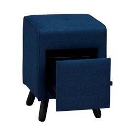 Modrá lavice se šuplíkem Folke Scylla
