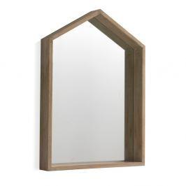 Nástěnné zrcadlo ze dřeva paulovnie Geese Pure, 60x82cm
