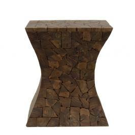 Stolička z teakového dřeva HSM collection Mozaiek