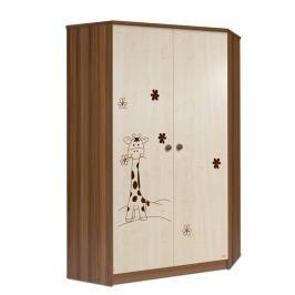 Rohová šatní skříň Faktum Makao Žirafa