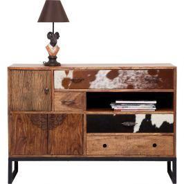 Komoda z palisandrového dřeva s koženými detaily Kare Design Rodeo, délka115cm