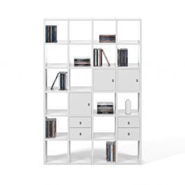 Bílá knihovna TemaHome Pombal, šířka151cm