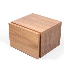Hnědý noční stolek TemaHome Float