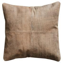 Světle hnědý kožený polštář Fuhrhome Ankara, 45x45cm
