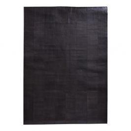 Tmavě hnědý koberec z pravé kůže Fuhrhome Rabat, 170x240cm