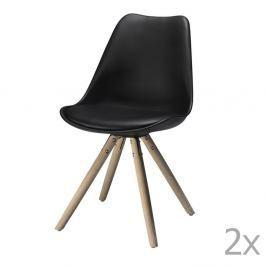 Sada 2 černých jídelních židlí Furnhouse Mille