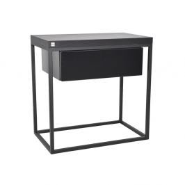 Černý noční stolek take me HOME Moonlight, 50x30cm