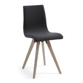 Tmavě šedá jídelní židle La Forma Una