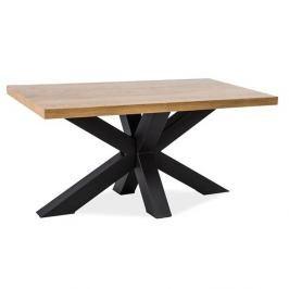 Jídelní stůl s černou ocelovou konstrukcí Signal Cross, délka110cm