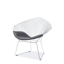 Židle s ocelovou konstrukcí a polštářkem z ekokůže Signal Remo