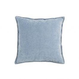Světle modrý polštář White Label Justin, 45x45cm