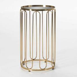 Odkládací stolek ve zlaté barvě Thai Natura Trong