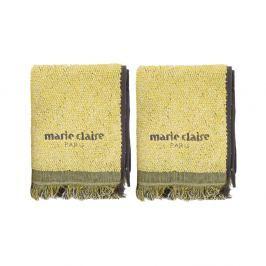 Sada 2 žlutých ručníků Marie Claire Colza, 40x60cm