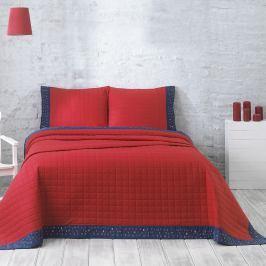 Přehoz s polštáři Jolly Red, 240x250 cm