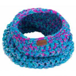 Modrá ručně háčkovaná kruhová šála DOKE Twister