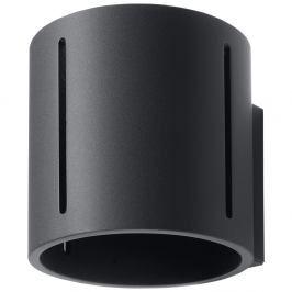 Černé nástěnné svítidlo Nice Lamps Vulco