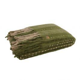 Zelený pléd De Eekhoorn Hug, 170x130cm