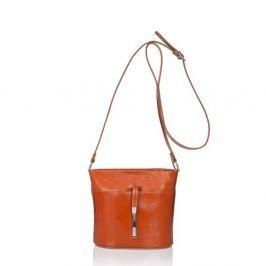 Světle hnědá kožená kabelka Markese Calf Mini