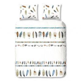 Bílé bavlněné povlečení na dvoulůžko Good Morning Boho,200x200cm