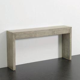 Šedý konzolový stolek Thai Natura, 140 x 75 cm
