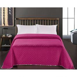 Fialovo-bílý přehoz přes postel z mikrovlákna Decoking Vivian, 240 x 260 cm