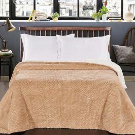 Krémový oboustranný přehoz na postel DecoKing Lamby, 210 x 170 cm