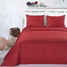 Červený set povlaku na polštáře a přehozu z mikroperkálu DecoKing Elodie, 170x210cm