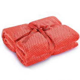Červená deka z mikrovlákna DecoKing Henry, 170 x 210 cm