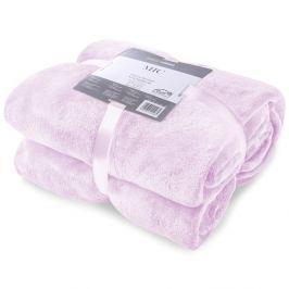 Světle růžová deka z mikrovlákna DecoKing Mic, 200x220cm