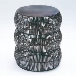 Šedá stolička Thain Natura, výška 50cm