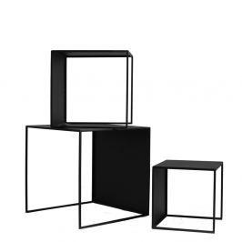 Sada 3 černých odkládacích stolků Custom Form 2Wall