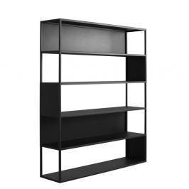 Černá knihovna Custom Form Hyllermetal, 150x180cm
