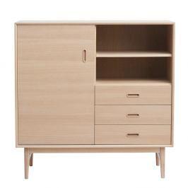Komoda ze dřeva bílého dubu Unique Furniture Rocca