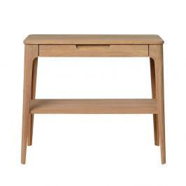 Konzolový stolek ze dřeva bílého dubu Unique Furniture Amalfi