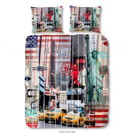 Povlečení na dvoulůžko z bavlněného saténu Muller Textiels Homel City, 200 x 240 cm
