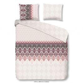 Hnědé povlečení na jednolůžko z bavlněného saténu Muller Textiels Premento Abigale, 140 x 200 cm