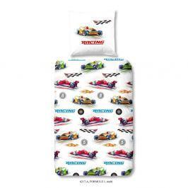 Dětské povlečení na jednolůžko z čisté bavlny Muller Textiels Formule 1, 140x200cm
