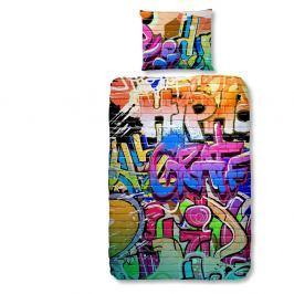 Dětské povlečení na jednolůžko z čisté bavlny Good Morning Graffity, 140x200cm