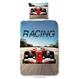 Dětské bavlněné povlečení Good Morning Racing, 140 x 200 cm
