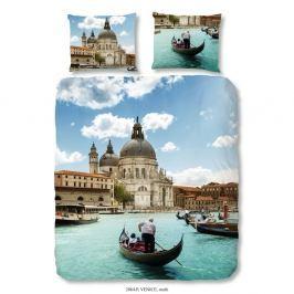 Povlečení na jednolůžko z bavlněného saténu Good Morning Premento Venice, 140 x 200 cm