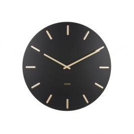 Černé nástěnné hodiny Karlsson Charm