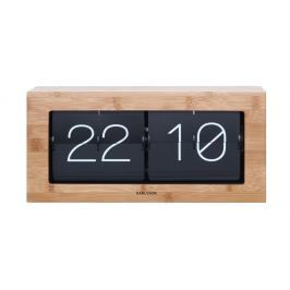 Dřevěné překlápěcí hodiny Karlsson Flip, 37 x 17,5 cm