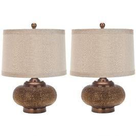 Sada 2 stolních lampa Safavieh Alex Is Gold