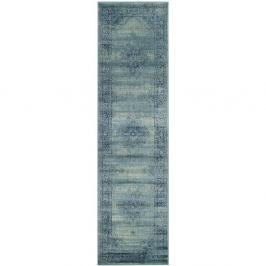 Modrý běhoun Safavieh Olivia, 66x243cm