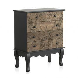 Dřevěná komoda s 5 zásuvkami Geese Fionne