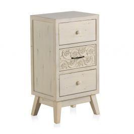 Dřevěný noční stolek s 3 zásuvkami Geese Lorelai