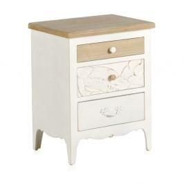 Dřevěný noční stolek Geese Natural