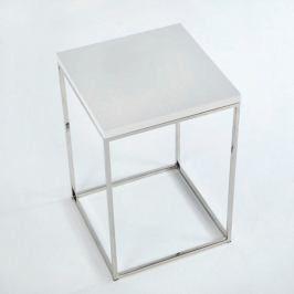 Odládací stolek s bílou deskou Thai Natura Nardino