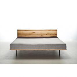Postel z olejovaného jasanového dřeva Mazzivo Modo, 120x210cm