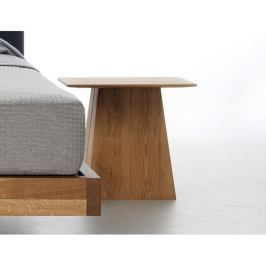 Noční stolek z olejovaného dubového dřeva Mazzivo Fungo